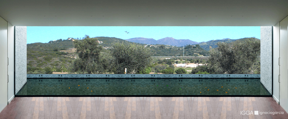 Interiores modernos y funcionales que se abren a la naturaleza.